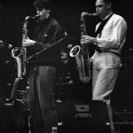 Anton Schwartz and Joshua Redman. Sanders Theatre, Harvard University, 1989.