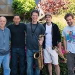 "The ""Flash Mob"" band: John Shifflett, Lorca Hart, Anton Schwartz, Dominick Farinacci and Taylor Eigsti. Fantasy Studios, Berkeley, CA, May 30, 2013. Photo by Chuck Gee."