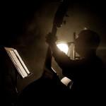 "John Shifflett. ""Flash Mob"" CD recording session. Fantasy Studios, Berkeley, CA, May 30, 2013. Photo by Chuck Gee."
