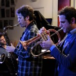 Taylor Eigsti, Anton Schwartz & Dominick Farinacci. May 29, 2013. Photo by Rick Gilbert.