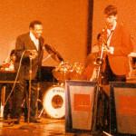 Lionel Hampton digging Anton Schwartz's playing. Highlights in Jazz concert series, New York City, 1985.